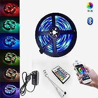 LEDストリップSmd5050Dc12V防水LEDライトBluetoothLEDストリップRGBLEDライトテープ5m10mダイオードリボンフレキシブルBluetoothリモート15M