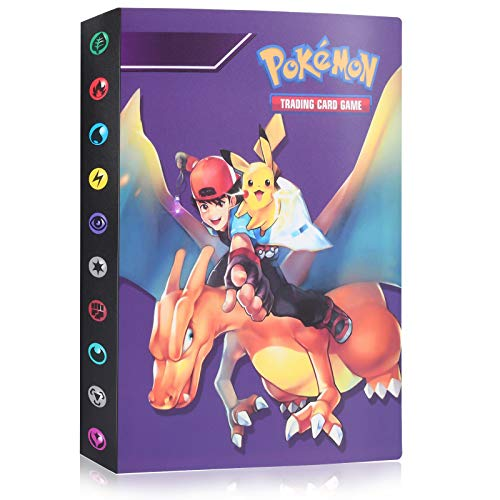 Pokémon Carte Album, 30 Pages Peut accueillir 120 Cartes à Unique ou 240 Cartes à Double, Classeur Carte Pokemon Album, Pokémon Cartes Titulaire, Albums Pokemon GX EX Trainer, Dragon volant Xiaozhi