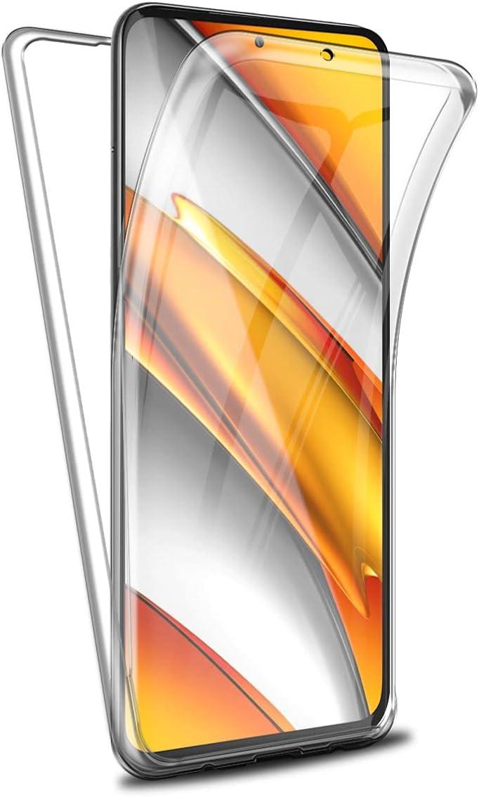 Reshias Funda para Xiaomi Poco F3 5G / Poco F3 Pro/Mi 11i, 360°Full Body Protección Suave TPU Silicona Delantero PC Dura Atrás Transparente Flip Protectora Carcasa para Xiaomi Poco F3 (6,67