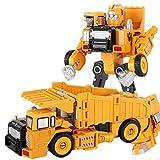ZXZXZX Deformation Auto Spielzeugroboter, Legierungsmodell Verwandelt Roboter Autorientechnik Baufahrzeugverformung Spielzeug 2in1 Roboter Kid Spielzeug (Color : Dumper)