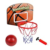 Toddler Basketball Hoop Portable Mini Basketball for Door Wall Rim Combo with Ball Pump Set Accessories Backboard Kids Birthday Gift for Boy Girl Children Youth Party Family Sport Easter Games