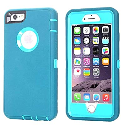 Annymall Case Compatible for iPhone 8 & iPhone 7, Heavy Duty [with Kickstand] [Built-in Screen Protector] Tough 4 in1 Rugged Shorkproof Cover for Apple iPhone 7 / iPhone 8 (Blue)