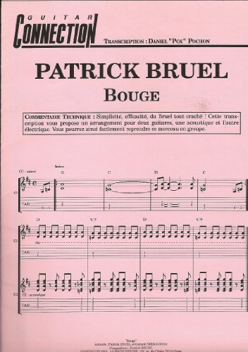 BOUGE - Patrick BRUEL - Guit Tab & Sol (GUITAR CONNECTION) (feuillet)