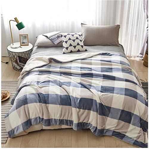 misshxh flanel deken, geruite ontwerp, super zacht en warm groot formaat lakens voor enkele en tweepersoonsbedden, bank deken 180x200cm