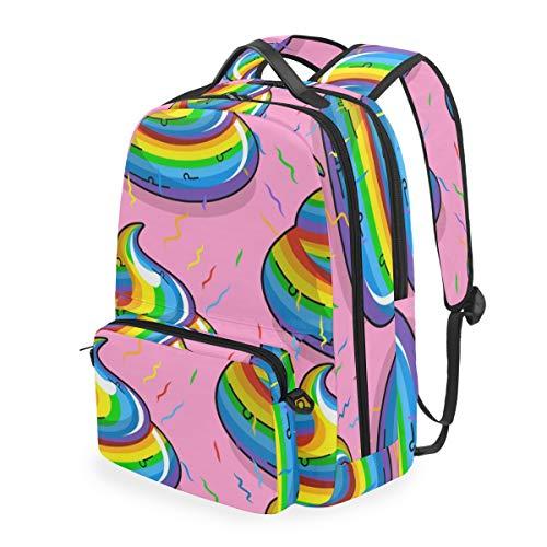Linomo - Mochila para niños, extraíble, colorida, bolsa de hombro divertida, con correa ajustable para el hombro, cruzada, casual, bolso de mano, para niños, niñas, mujeres y hombres