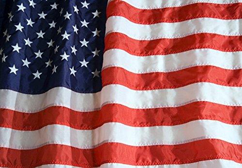 US Flag 3X5 ft (Embroidered stars - sewn stripes)