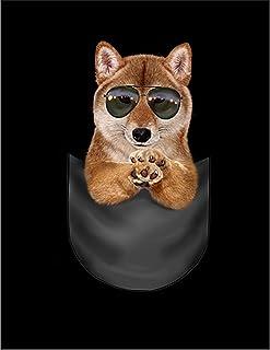 Fox Republic 柴犬 サングラス ポケット 犬 バーガンディー キッズ パーカー シッパー スウェット トレーナー 110cm