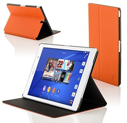 Forefront Hülles Hülle für Sony Xperia Z3 8.0 8-Zoll Tablet Compact Schutzülle Hülle Cover und Ständer - Dünn Leicht, R&um-Geräteschutz und Auto Schlaf Wach Funktion - Orange