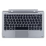 Teclado para tablet CHUWI HI10 X,HI10 XR,HI10 Air Soporte magnético Separable Diseño Multi Modo Eje Rotatorio (Versión Inglés)