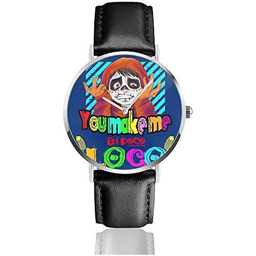 Unisex Business Casual Sie Machen Mich Un Poco Loco Uhren Quarz Leder Uhr