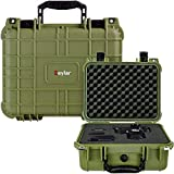 Eylar Protective Gear and Camera Hard Case Water & Shock Proof with Foam 13.37 inch 11.62 inch 6 inch OD Green
