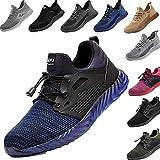 Zapatos de Seguridad para Hombre Transpirable Ligeras con Puntera de Acero Zapatillas de Seguridad Trabajo, Calzado de Industrial y Deportiva 38