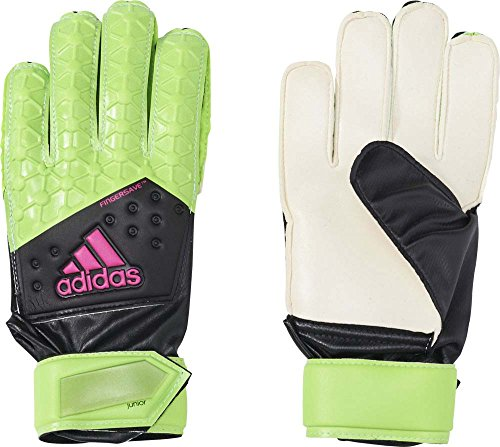 adidas Jungen Handschuhe ACE FS Junior, Solar Green/Core Black/Shock Pink S16/White, Gr.4
