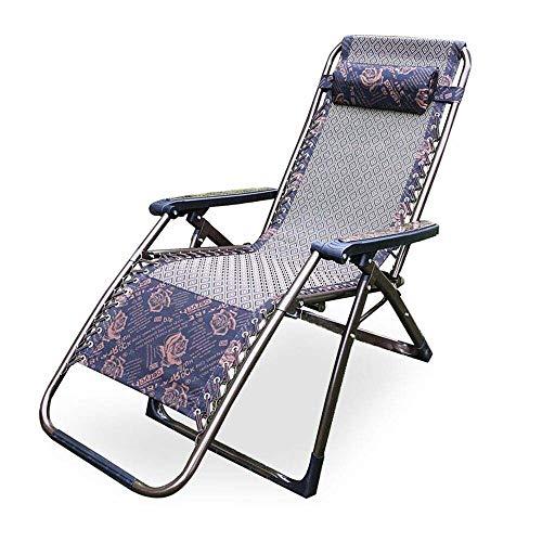 YLCJ • Reclining opklapbare tuinstoel Zonnebank Zwaartekracht nul draagbare schommelstoel Opvouwbare ligstoel (kleur: C) A