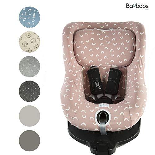 Imagen para BAOBABS BCN Funda para Römer Dual Fix, Dual Fix i-Size y Swinfix I-Size Pink & White Waves acabado de calidad para bebé