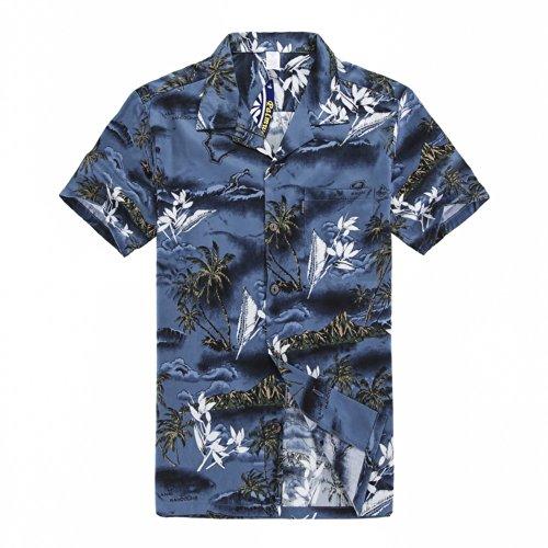 Camisa hawaiana de Luau del Hawaiian del muchacho T Shirt Solamente en el mapa y la persona que practica surf azules 14 Años