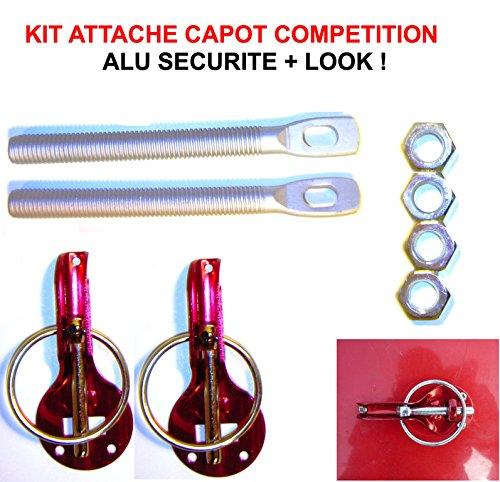 LCM2014 Superbe KIT Attache Capot Rouge Competition ! Montage avec OU sans PERCAGE ! Raid Preparation 4X4