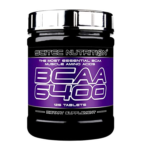 BCAA 6400 125 Tablets | Branched Chain Amino Acids | Anabolic and Anticatabolic Food Supplement for Muscle Mass Growth