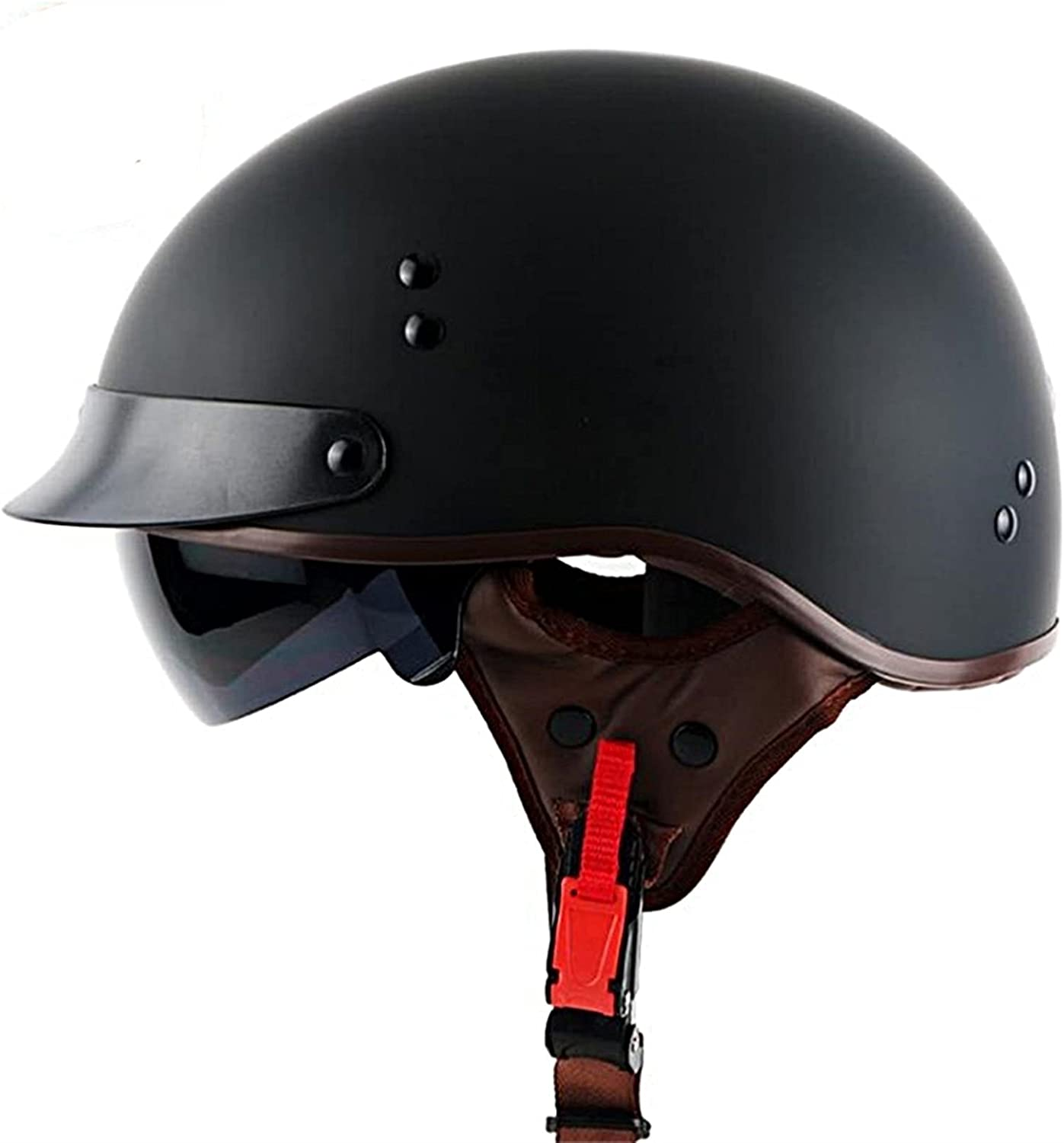 YALIXING Sale special price Milwaukee Mall Vintage Motorcycle Helmet Face Retro Open Style