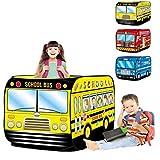 LANHA Pop Up School Bus Play Tent Pieghevole Playhouse per Interni ed Esterni per Bambini Regalo Giocattolo per Veicoli con Custodia per Il Trasporto per Ragazzi e Ragazze