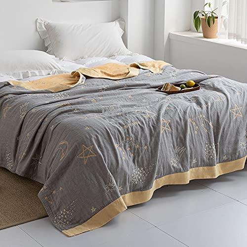 KLily Manta Simple, Adecuada para La Manta De La Siesta del Sofá De La Oficina del Dormitorio, Manta De Toalla De Aire Acondicionado, Material De Algodón Lavado, Absorbente De Agua Y Transpirable