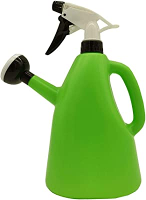 Luck Watering Cans for House Outdoor Plants,1500ml 2 in 1 Dual Use Home Hand Operated Sprayer Balcony Disinfection Spraying Watering Pot Bottle for Indoor Plants (Green)