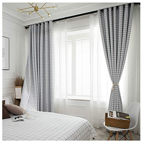 DDSGG Blackout Curtains Thermal Insulated Window Treatment Eyelet Super Soft Curtain - Super Soft Thermal Insulated Window Treatment Bedroom Curtains,Hook,5263inch