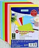 40 (2x 20) farbige Briefumschläge Din C6 bunte Kuvert (DIN C6 | 40 Stück, sortiert)