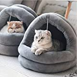 Tempcore Cat Bed for Indoor Cats, Machine Washable Cat Beds, Cat Beds for Indoor Cats or Small Dogs, Puppy, Kitty, Kitten, Rabbit, Anti-Slip & Water-Resistant Bottom