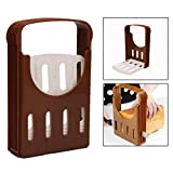 OFKPO Foldable Compact Bread Loaf Toast Cutting Slicer, Baking Guide Kitchen Tool
