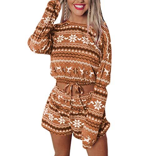 Ensemble de vêtements de Nuit pour Femmes noël Femmes Pyjamas Ensembles d'impression vêtements de Loisirs vêtements de Salon Costume Maison Hauts + Pantalons