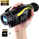 T-Eagle Night Vision Monocular 4X35 Night Vision Infrared IR Camera HD Digital Night Vision Scopes,W/1080p HD Video Recording & Photos and TF Card for Hunting Security Surveilla