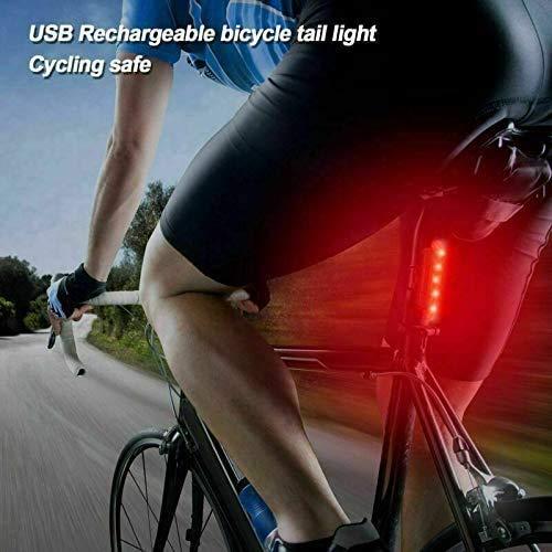 VJK USB wiederaufladbare Fahrradbeleuchtung vorne und hinten, 2 Stück Scooter-Licht, 5 LEDs, 4 Modi, vorne und hinten, Blinklicht, Sicherheitswarnlampe - 3