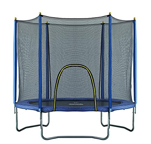 NoBoundz 10ft Garden Trampoline w/ Net Enclosure & Ladder
