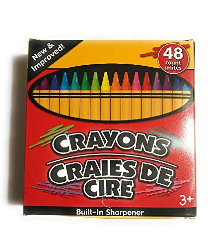 JOT Crayons with Built-in Sharpener Non-Toxic, 48 Count Pack of 2