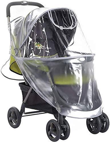 HFJKD Universal Stroller Raincover, Rainproof Dustproof Windproof Cover for Pushchair Stroller Buggy Pram Large Throw Rain Cover