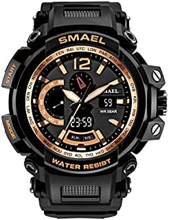 Fashion Men Watch LED Dual Display Digital Electronic Sport Wrist Watches