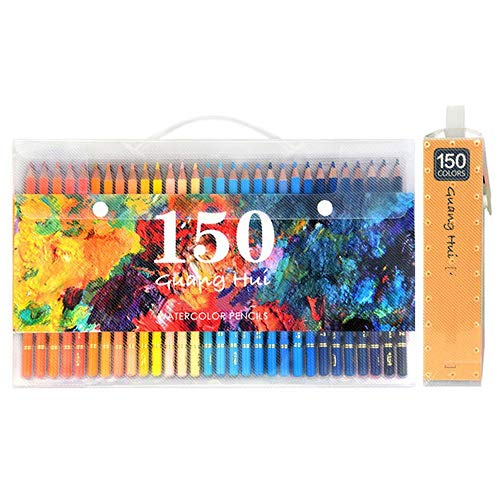 WanuigH Lápices de Colores Lápiz de Color situados a 150 Colores de lápices solubles en Agua Bosquejo de la Acuarela Lápices de Colores del Arco Iris lápiz Artista Dibujo para Colorear y Dibujar