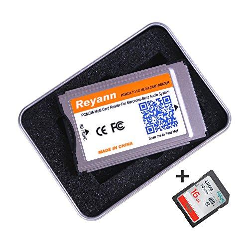 Reyann 16GB SD Karte + PCMCIA zur SD-PC-Kartenadapter Unterstützung 32GB SDHC für Benz Comand APS C197 W212 W204 W221 W207 mit PCMCIA Slot