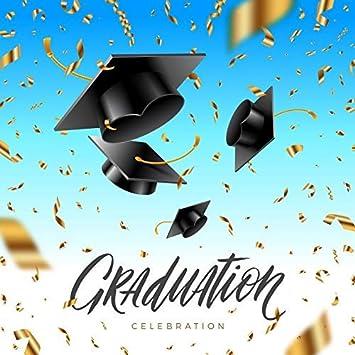 Graduation Celebration Background 5x5ft Mortar Board Vinyl Photography Backdrop Trencher Cap Golden Confetti Ribbons Grad Graduates University Prom Carnival Party Decor Photo Prop Studio