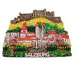 3D Salzburg Österreich-Kühlschrankmagnet, Heim- und Küchendekoration, Magnetaufkleber, Salzburg Österreich, Kühlschrankmagnet, Touristensouvenir, Geschenk