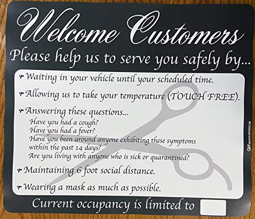 """Salon COVID-19 (Coronavirus) Durable Vinyl Banner- 36x24"""" Sign by Graphical Warehouse- Safety and Security Signage, Visual Communication Tool"""