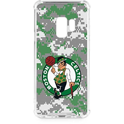 Skinit Clear Phone Case for Galaxy S9 - Officially Licensed NBA Boston Celtics Digi Camo Design