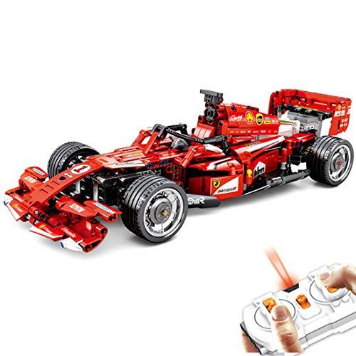 PEXL Technik Formel 1 FRR-F1 Auto 2.4G Ferngesteuertes Rennwagen RC F1 Rally Auto Bausteine Bausatz, 585 Klemmbausteine Kompatibel mit Blöcke aus Dänische
