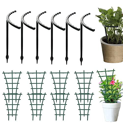 Garten Pflanzenstütze Rankhilfe, 8 Stück Garten Rankgitter Blumenstütze Gitterspalier DIY Garten-Pflanzenstütze, Mini Kletterpflanzen Rankgitter für Kletterpflanzen und Reben
