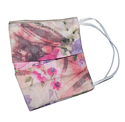 Weri Spezials Masque facial avec une poche filtrante, bandana, foulard multifonction, masque facial tendance pour la randonnée et les loisirs (taille unique, rose clair)