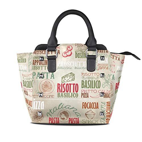 MONTOJ Italy Gourmet Art Handtasche Damen Schultertasche