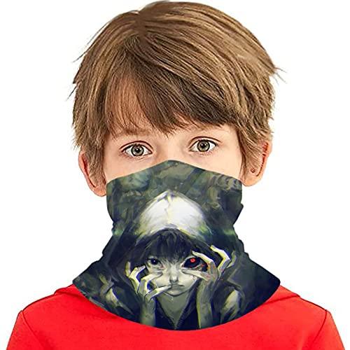 LAOLUCKY Tokyo Ghoul - Polaina para cuello de noche con 6 filtros de protección UV, bufanda de seda de hielo, a prueba de viento, a prueba de polvo, para deportes al aire libre, uso diario