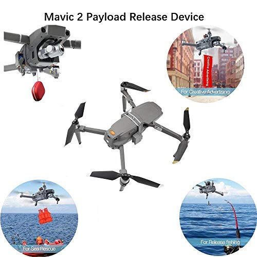 BTG Release and Drop Device for Drone Fishing, Bait Release, Payload Delivery, Search & Rescue, Wedding Proposal Compatible with DJI Mavic 2 / Mavic 2 Pro/DJI Mavic 2 Zoom