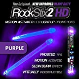 ROCKSTIX 2 HD DEEP PURPLE, BRIGHT LED LIGHT UP DRUMSTICKS, with fade effect, Set your gig on fire!...